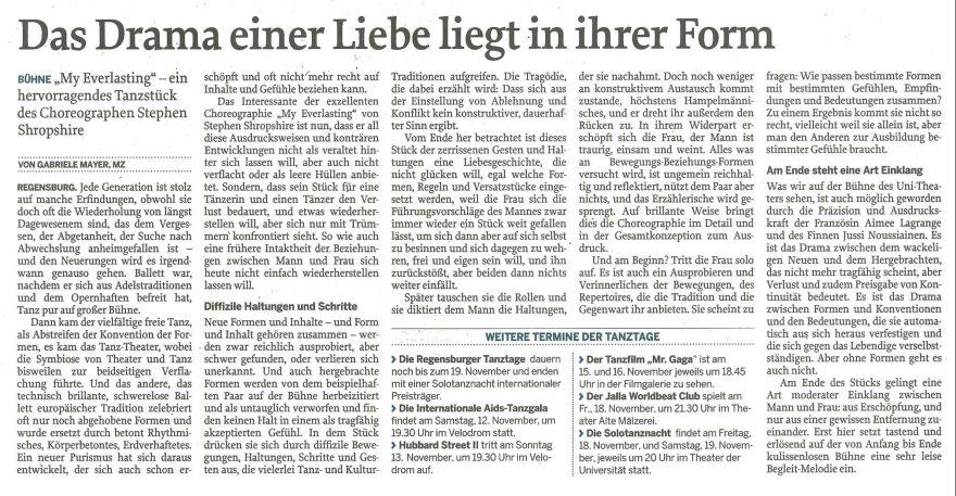 Mittelbayerische Zeitung 9.11.2016